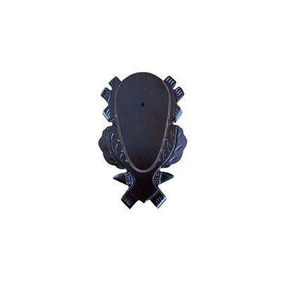 Geweiplank eiken bruin gelakt maat 24x15cm, incl. kaakuitsparing + schedelklem