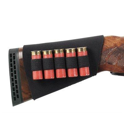Uncle Mikes BUTTSTOCK SHELL HOLDER, NEOPRENE, SHOTGUN-5 LOOPS,BLACK