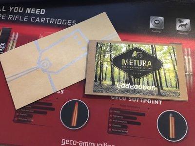 Cadeaubon Metura Schietsport (€10,  €25 of  €50)