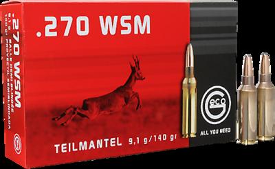 Geco classic .270 WSM teilmantel 20 stuks 9,1 gram / 140 grain