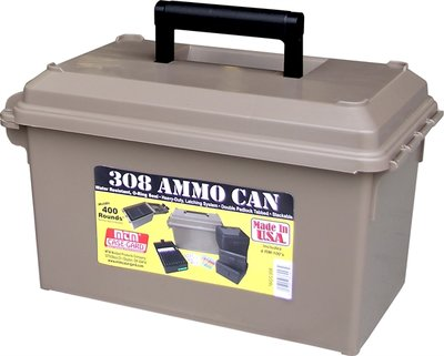 308 Ammo Can for 400 rd. **Includes 4 each RM-100's Dk Earth