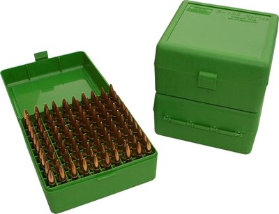 Ammo Box 100 Round Flip-Top 22-250 243 308 Win 220 Swift Gre