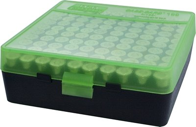 Ammo Box 100 Round Flip-Top 38 - 357 Green
