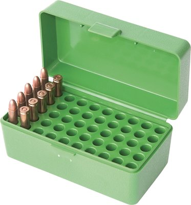 Ammo Box 50 Round Flip-Top 22 Hornet Green