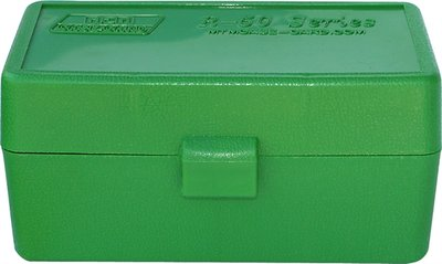 Ammo Box 50 Round Flip-Top 22-250 6mm PPC 7mm BR Green