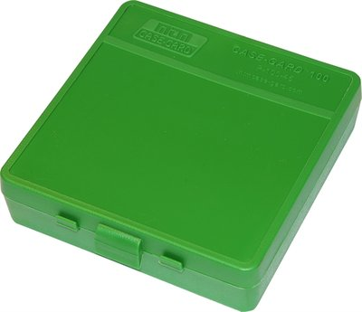 Ammo Box 100 Round Flip-Top 40 10mm 45 ACP Green