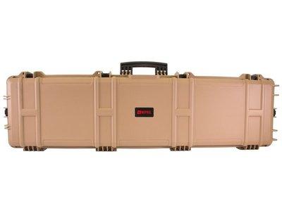Nuprol kunststof geweerkoffer XL  Zandkleur