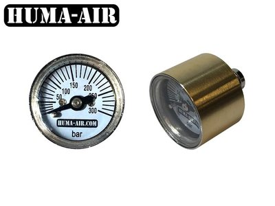 Huma-Air mini drukmeter 26mm ronde afwerking (G1/8 BSP)
