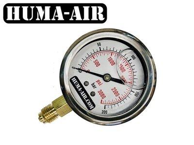 Huma-Air drukmeter 65mm vloeistof gevuld (G1/4 BSP)