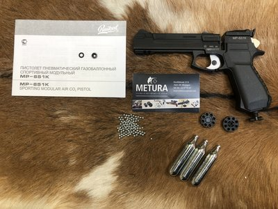 Gratis verzenden. Occasion Baikal MP-651K multishot Co2 pistool