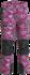 Fel roze Oerwoud/ Zwart
